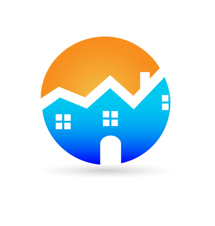 real estate house: Real estate house company business card Illustration