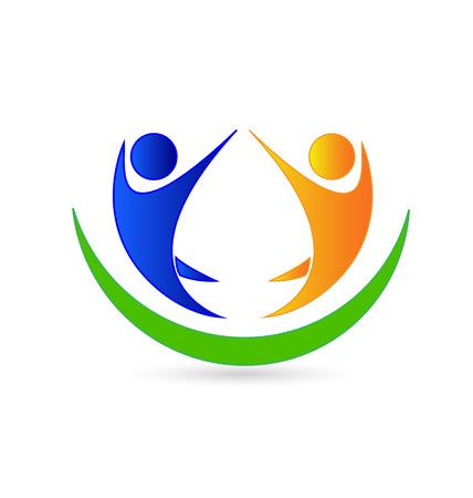 Teamwork icon company card vector Stock Vector - 27751521