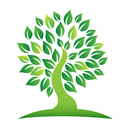Vector of green tree icon Illustration