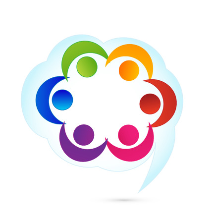 Teamwork cloud people icon vector  Vector