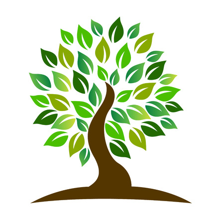Stylized tree icon vector Vector