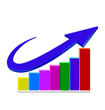 Business statistics growth sales icon vector Vector