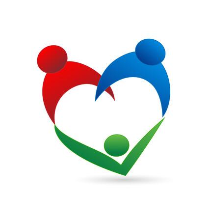 Familienanschluss Vektor-Symbol