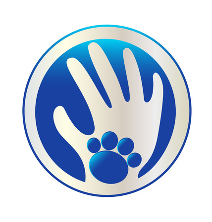 Hands love pets icon  Vector