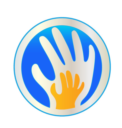protection icon: Hands protection icon vector