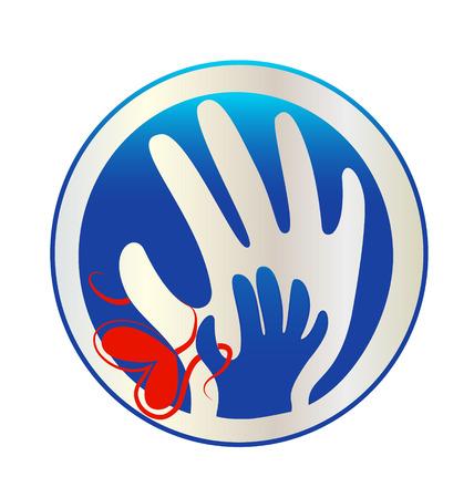 Hands of love icon vector Vector