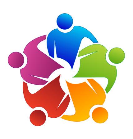 Teamwork Partner Vektor-Symbol Vektorgrafik