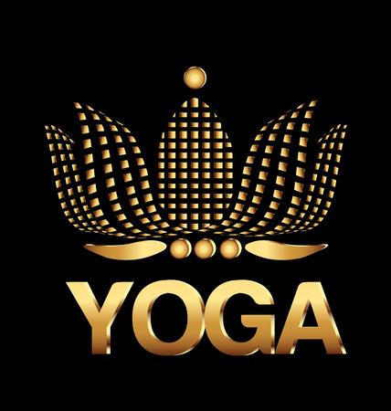 chinesse: Yoga lotus flower identity company card vector Illustration
