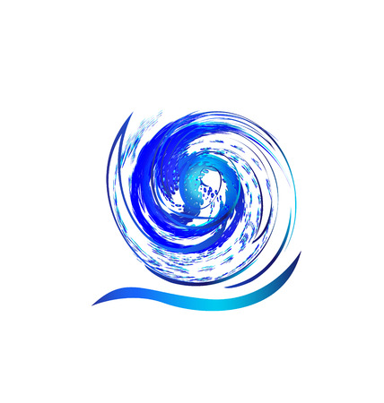 Swirly splash wave water icon vector concept  Vector
