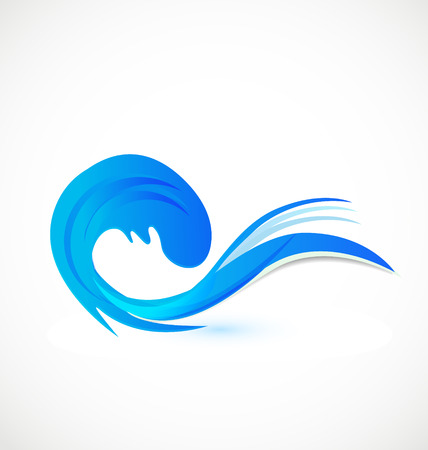 Wave beach identity card icon vector