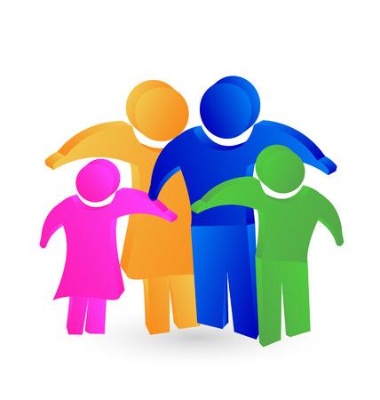 familias unidas: Concepto de producto imagen del icono del diseño del vector 3d