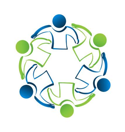 carta identit�: Concetto di lavoro di squadra gente d'affari carta d'identit� vettore icona Vettoriali