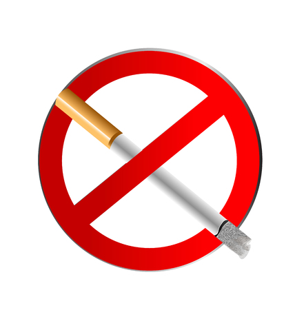 restrictions:  Sign No Smoking icon vector concept