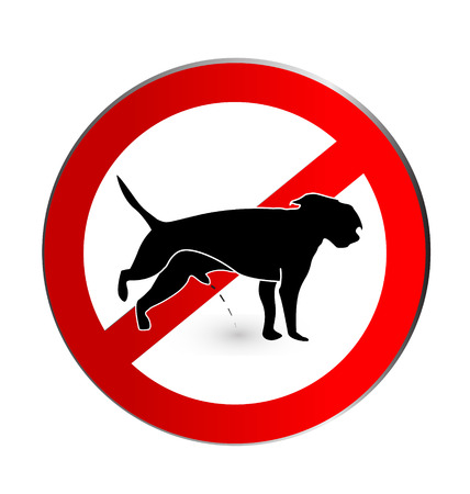 pis: Ning�n perro pis signo vector icon