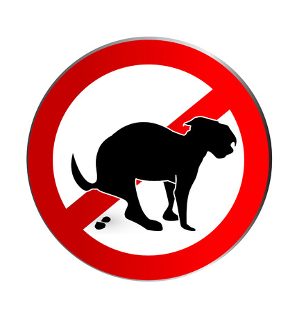 No dog poop sign icon vector