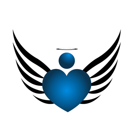 Blue Angel icon design  Vector