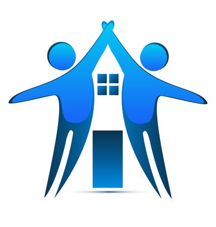 House creative identity card icon Ilustrace