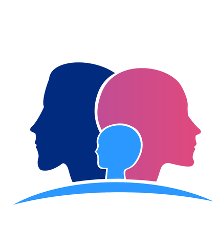 Family heads icon illustration Vector
