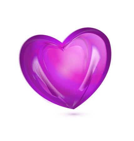 Heart symbol gift card icon  Vector