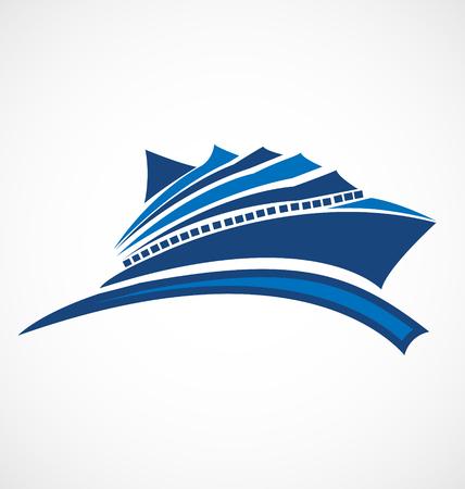Cruise identiteitskaart bedrijfspictogram Stock Illustratie