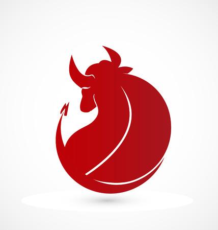 Bull identity card business icon Vector
