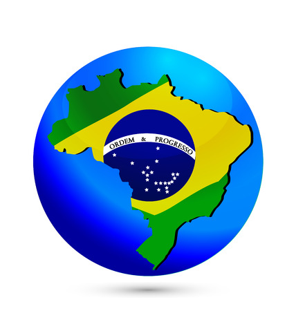 Brazil map icon  Vector