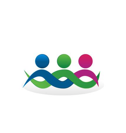 comunidades: Amigos de las personas que abrazan el concepto icono Vectores