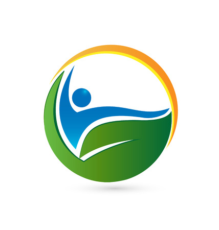 Wellness life and health concept icon Vettoriali