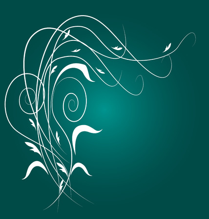 Floral swirly design background template Vector