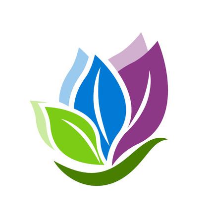 Leafs schoonheid swirly vector design icoon