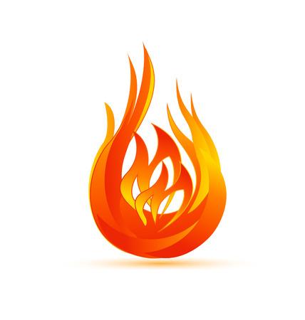 Flames symbol icon vector