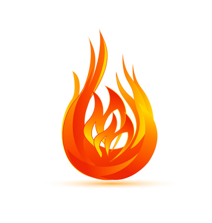 Flames symbol icon vector