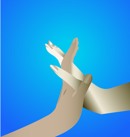 Hands unity symbol icon Vector