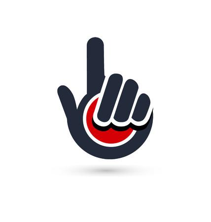Black pointer hand icon vector 向量圖像