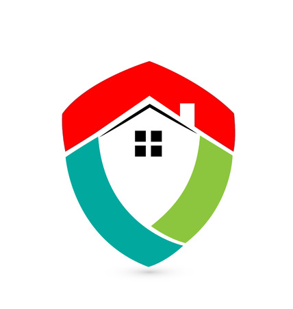 Shield house real estate concept icon  Vector