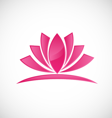 Lotus flower beauty icon Vector