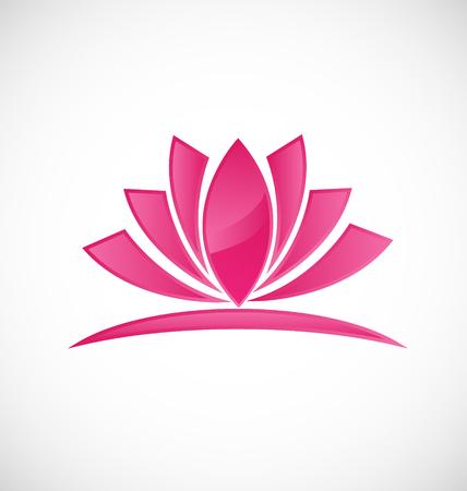 Lotus flower beauty icon