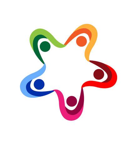 Diversité de travail d'équipe de personnes se tenant la main vecteur icône Banque d'images - 29531592