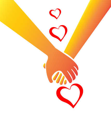 Holding hands love concept image symbol icon vector Vector