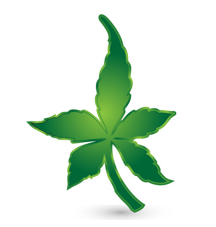 green leafs cannabis concept icon  Vector