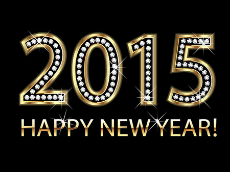 december calendar: Felice anno nuovo 2015 sfondo vettoriale
