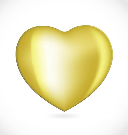 gold valentines day heart Vector