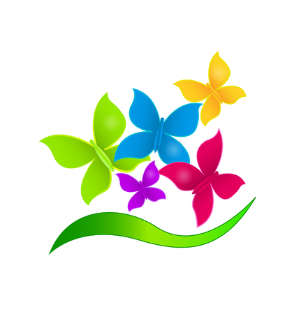 vibrant: Butterflies in vibrant colors icon