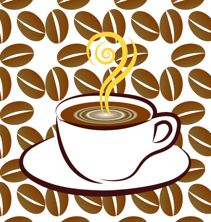 Coffee sign background  Vector