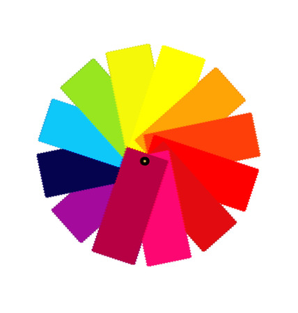 swatch book: Color guide spectrum illustration