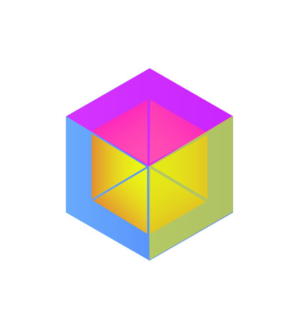 Abstract cube icon design Illustration