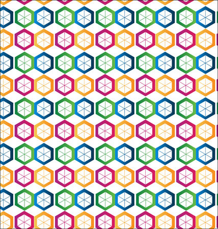 Seamless hexagon shape background Vector