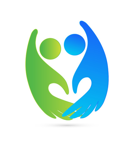 Handshake figures business icon Vector