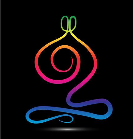 stylized design: Yoga uomini icona del design stilizzato