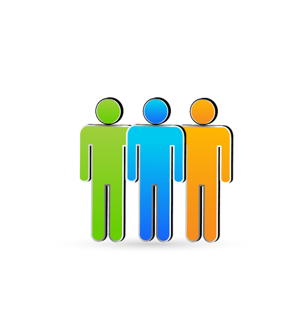 businessteamwork: Friends in business.Teamwork symbol vector icon Illustration